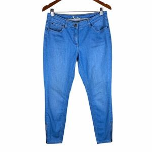 Boden Skinny Ankle Zipper Jeans Size 8 Petite